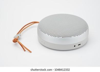 Wireless speaker on white background