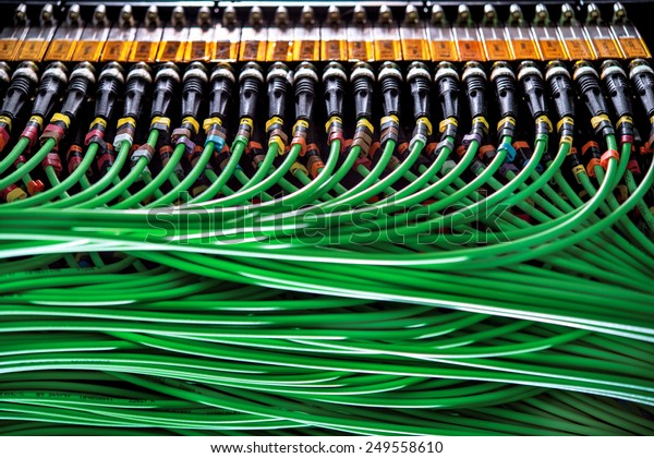 Wires Connected Network Server Stock Photo (Edit Now) 249558610 on