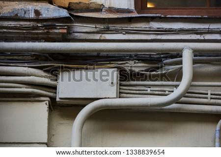 Surprising Wires Electrical Telephone Antenna Computer Network Stock Photo Wiring Database Lukepterrageneticorg