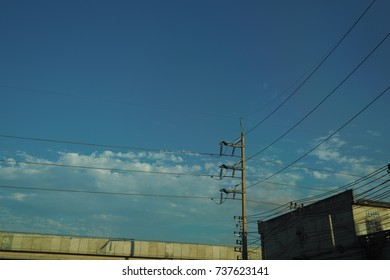 The wires and the sky