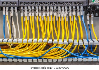 Wiring - Control electrical panel with wires in industry