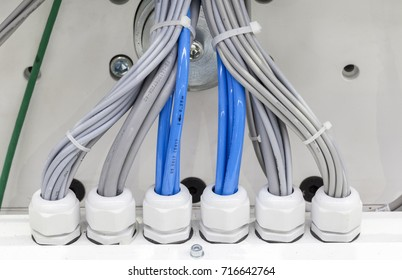 wiring harness, abstract background, close up