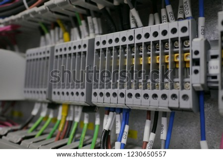 Swell Wiring Terminals Electrical Cabinet Electrical Wires Stock Photo Wiring Digital Resources Tziciprontobusorg