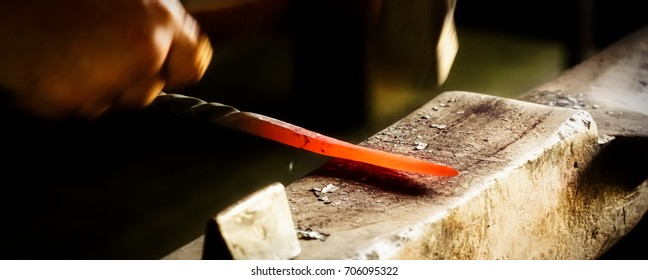 A Wisconsin blacksmith practicing his craft.