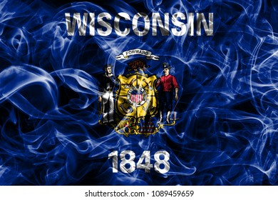 Wisconsin state smoke flag, United States Of America