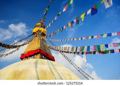 Wisdom eyes, Bodhnath, Nepal