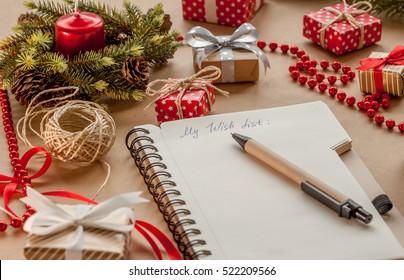 wish list among presents