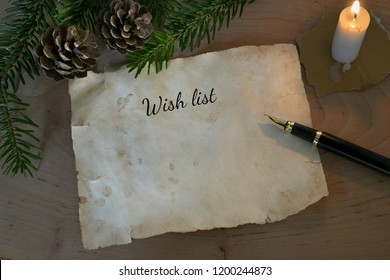 Wish list with candle