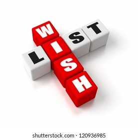 Wish List crosswords. Part of a business concepts series.