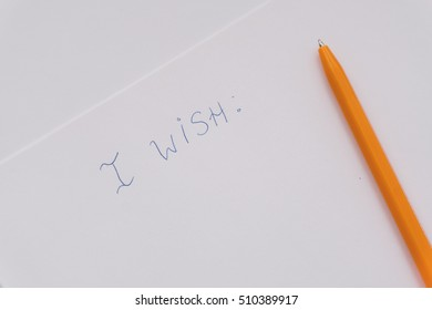 wish list on a sheet of paper, xmas wish list