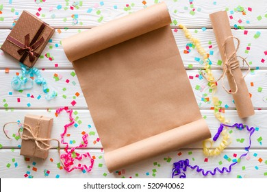wish list for Santa Claus on a white background