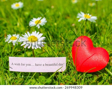 Wish You Have Beautiful Day Note Stock Photo Edit Now 269948309