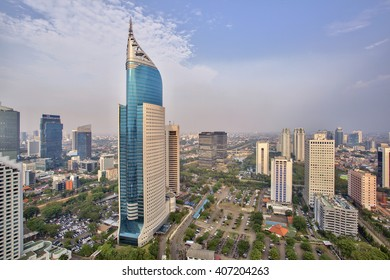 Wisma 46 is a 262 m tall skyscraper located in the Kota BNI-Maybank complex at Jalan Jenderal Sudirman in Central Jakarta, Indonesia. The 48 storey office tower was completed in 1996.