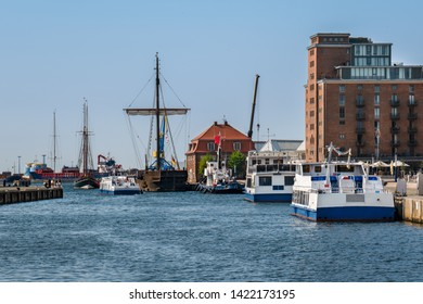 Wismar, Germany. View of the harbor.
