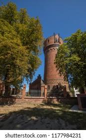 Wismar - Old Water Tower Monument Of Wismar, Mecklenburg-Vorpommern, Germany, Wismar 04.08.2018