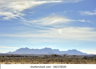 Wispy Clouds above the Chisos Mountains - Big Bend National Park