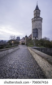 Witch tower - old stone tower in Idstein, Germany