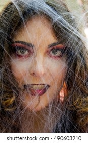 witch in the web.halloween