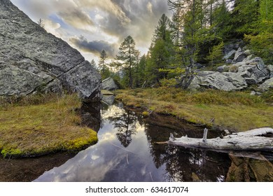 Witches Lake in Alpe Devero, Italy