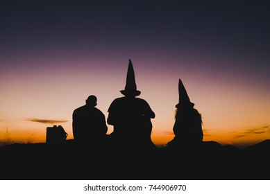 Witches at sunset in Brazil