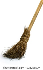 witch's broomstick on white