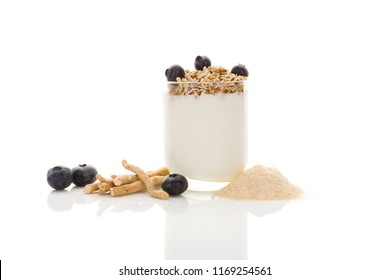 Withania somnifera root, ashwagandha root and ground with yogurt. Adaptogenic nutritional supplement.
