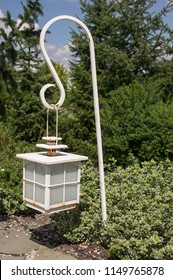 A withe garden lantern, summe time