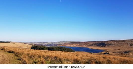 Withens Clough Reservoir, above Cragg Vale, Calderdale, West Yorkshire, UK