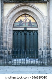 Wittenberg - The famous door at the All saint's church where Martin Luther nailed the ninety-five theses on the door and sparked the reformation.