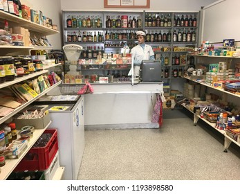 Wittenberg/ Germany - July 30, 2017 : The grocery store set up during German Democratic Republic period. Purchase limitation by quotas.