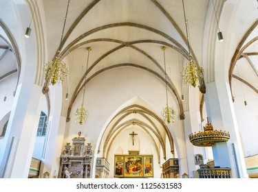 WITTENBERG, GERMANY - MARCH 18, 2018 Saint Mary's City Church Stadtkirche Lutherstadt Wittenberg Germany. Martin Luther's church. Founded in 1187, restored in 1900s.
