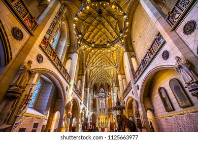 WITTENBERG, GERMANY - MARCH 18, 2018 All Saints Castle Castle Church Schlosskirche Lutherstadt Wittenberg Germany. Where Luther posted 95 thesis 1517 Protestant Reformation.