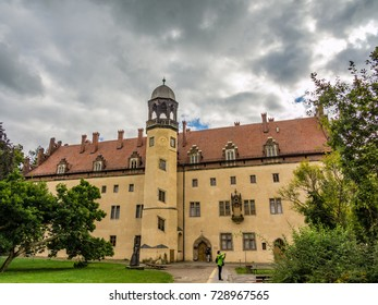 WITTENBERG, GERMANY - SEPTEMBER 18, 2013: Lutherhaus museum in Lutherstadt Wittenberg, Germany. The building was the home of Martin Luther for most of his adult life.