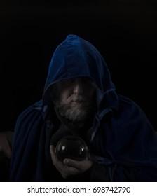 Wizard in blue robe