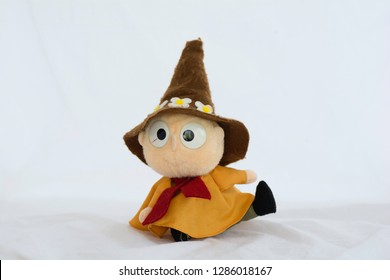 Wizard doll on a white background