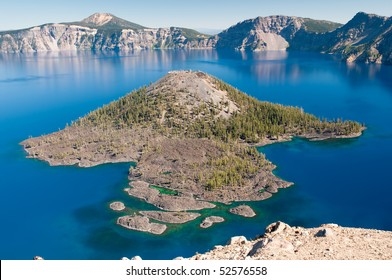 Wizard Island at Crater Lake National Park in Oregon