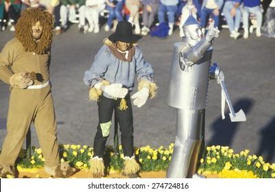 Wizard of Oz Float in Rose Bowl Parade, Pasadena, California
