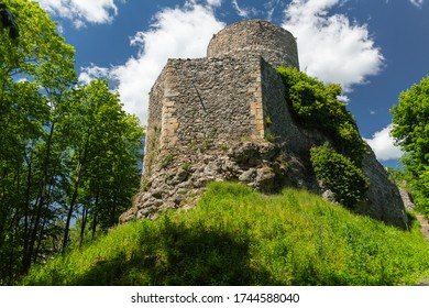 Wlen - one of the oldest castles in Poland - the Bobr River Valley near Jelenia Gora - Shutterstock ID 1744588040