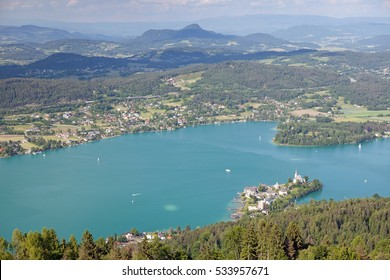Woerthersee Lake in Austria