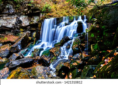 Wolf Creek Falls, New River Gorge National River, Fayette County, West Virginia, USA