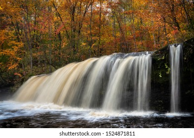 Wolf creek waterfall on the kettle river