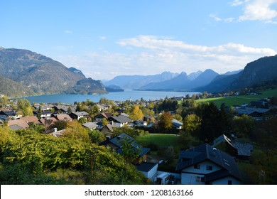 Wolfgangsee in Austria. Famous view point of the Wolfgangsee.