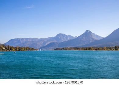 Wolfgangsee lake in Austria. Wolfgangsee is one of the best known lakes in the Salzkammergut resort region of Austria.