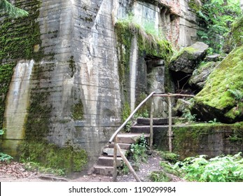 Wolf's Lair (Wolfsschanze, Wolfschanze, Wilczy Szaniec) - Adolf Hitler's first military headquarters in World War II, Gierloz near Ketrzyn, Poland. The largest object, Hitler's reinforced bunker