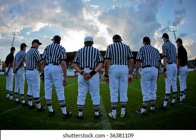 WOLFSBERG, AUSTRIA - AUGUST 18 American Football B-EC: The referees prepare for the game Italy vs. Austria on August 18, 2009 in Wolfsberg, Austria.
