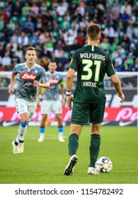 Wolfsburg, Germany, August 11, 2018: Robin Knoche in action during the match between Vfl Wolfsburg - SSC Naples on August 11, 2018 in Wolfsburg, Germany.