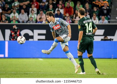Wolfsburg, Germany, August 11, 2018: football player Simone Verdi in action during the match between Vfl Wolfsburg - SSC Naples on August 11, 2018 in Wolfsburg, Germany. Photo by Michele Morrone