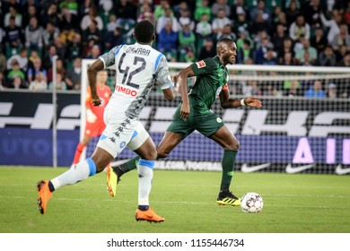 Wolfsburg, Germany, August 11, 2018: football player, Josuha Guilavogui, in action during a match on August 11, 2018. Photo by Michele Morrone