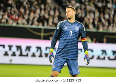 Wolfsburg, Germany, March 20, 2019: Germany national team goalkeeper, Manuel Neuer, during the international friendly game between Germany and Serbia.