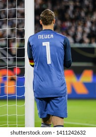 Wolfsburg, Germany, March 20, 2019: goalkeeper Manuel Neuer during the international friendly game between Germany and Serbia.